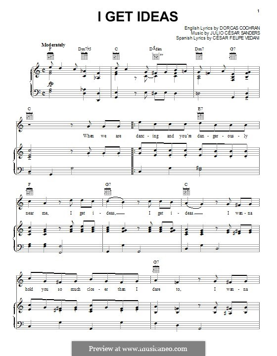 I Get Ideas by JC Sanders sheet music on MusicaNeo