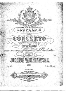 Concerto for Piano and Orchestra in G Minor, Op.20 by J