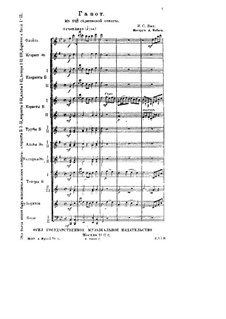 Partita for Violin No.3 in E Major, BWV 1006 by J.S. Bach