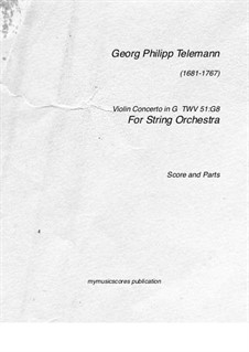 Concerto for Violin, Strings and Basso Continuo in G Major