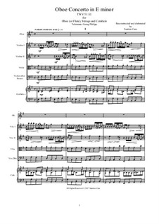 Concerto for Oboe (or Flute), Strings and Continuo in E