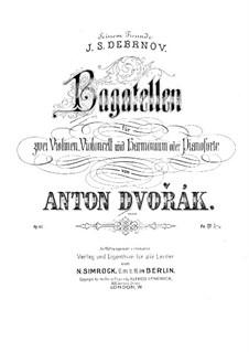 Bagatelles for Two Violins, Cello, Harmonium (or Piano), B