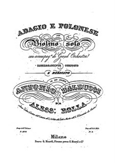 Adagio and Polonaise for Violin and Orchestra, BI 484 by A