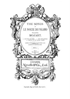 Three Songs of Figaro (Le nozze di Figaro (The Marriage of