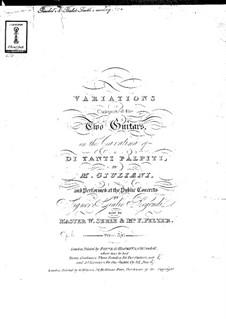 Variations on Cavatina 'Di Tanti Palpiti' for Two Guitars