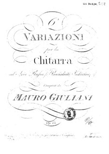 Six Variations on Aria 'Pascialuite Sudarina' for Guitar