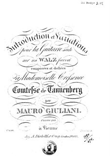 Introduction and Variations on Waltz for Guitar, Op.103 by