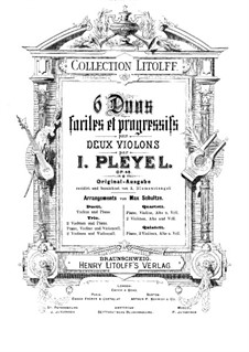 Six Little Duos for Two Violin, Op.48 by I. Pleyel on