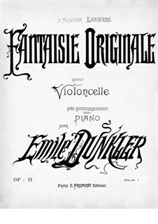 Original Fantasia for Cello and Piano, Op.11 by E. Dunkler