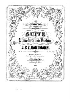 Suite for Violin and Piano, Op.66 by J.P.E. Hartmann on
