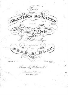 Three Grand Sonatas for Flute and Piano, Op.83 by F
