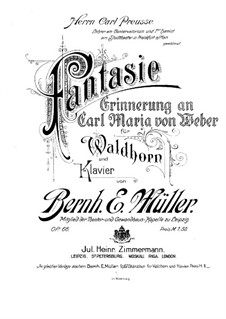 Fantasia for French Horn and Piano, Op.66 by B.E. Müller