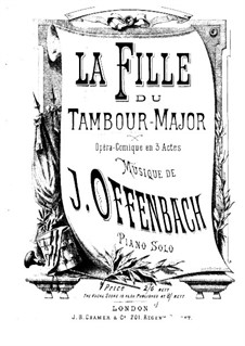 La fille du tambour-major (The Drum-Major's Daughter) by J