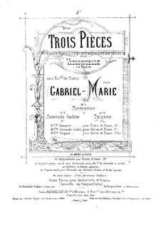 Tzigane for Cello (or Violin) and Piano by G.P. Marie on