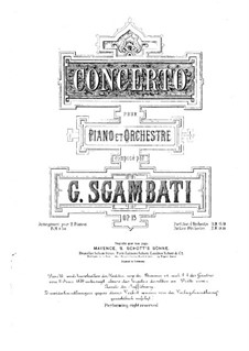 Piano Concerto in G Minor, Op.15 by G. Sgambati on MusicaNeo
