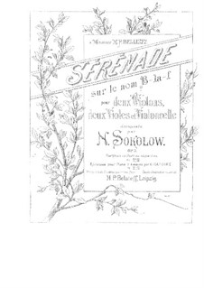 Serenade for String Orchestra, Op.3 by N. Sokolov on MusicaNeo