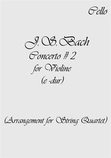 Concerto for Violin, Strings and Basso Continuo No.2 in E
