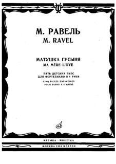 Ma mère l'oye (Mother Goose). Suite, M.60 by M. Ravel on