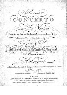Violin Concerto No.1 in A Minor by F.A. Habenech on MusicaNeo