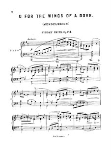 Transcription on 'O for the Wings of a Dove' by