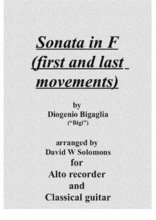 Sonata in F (first and last movements) by D. Bigaglia on