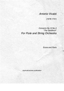 Six Flute Concertos for Flute, Strings and Cembalo, Op.10