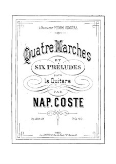Four Marches and Six Preludes, Op.48, 49 by N. Coste on