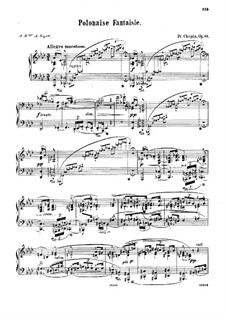 Polonaise-Fantasia in A Flat Major, Op.61 by F. Chopin on