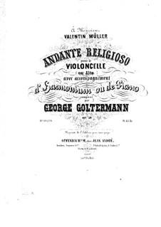 Andante religioso for Cello (or Viola) and Harmonium (or