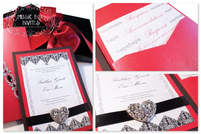 Black Red And White Wedding Invitations – Red Black White Wedding Invitations