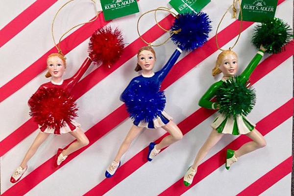 Cheerleader Christmas Tree Ornaments