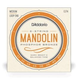 D'Addario EJ74 Mandolin Strings Phosphor Bronze Medium Gauge