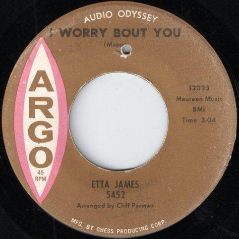 Etta James - I Worry Bout You (Argo 5452)