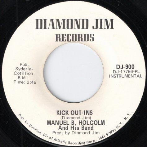 Manual B. Holcolm & His Band - Kick Out-Ins (Instrumental) Diamond Jim 45