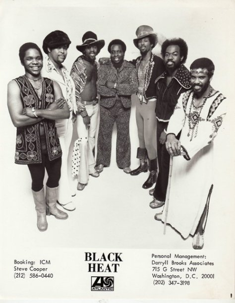 Black Heat (1975 Atlantic Press Photo) Washington, D.C. Funk Group
