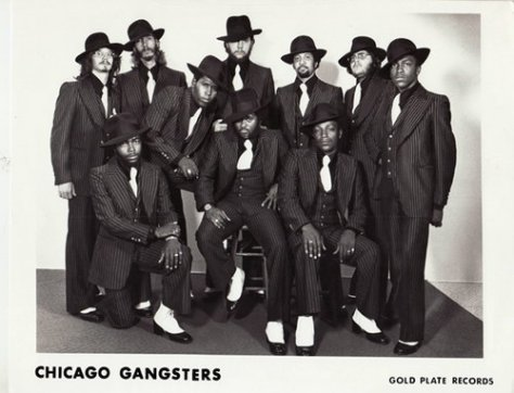 Chicago Gangsters (1970s Gold Plate Press Photo)