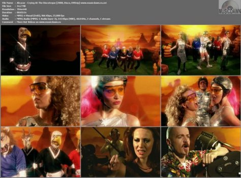 Alcazar – Crying At The Discoteque [2000, DVDrip] Music Video (Re:Up)