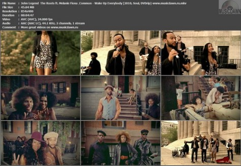 John Legend & The Roots ft. Melanie Fiona & Common – Wake Up Everybody [2010, DVDrip] Music Video