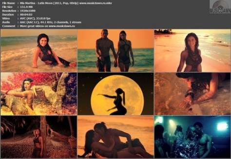Mia Martina – Latin Moon (2 versions) [2011, HD 1080p] Music Videos