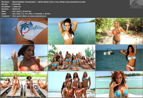 Miami Dolphins Cheerleaders - Call Me Maybe (2012, Pop, HD 720p)