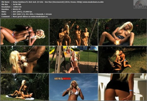 Katya Sambuca ft. Bob Jack & DJ Grin - Sex Star (Uncensored) (2010, House, HDrip)