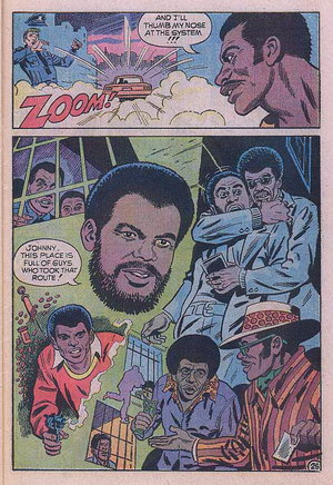 Tom Skinner - Up From Harlem Comics: Johnny this place is full of guys who took that root!