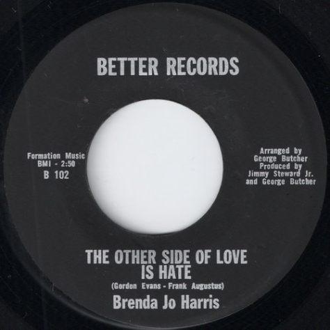 """Brenda Jo Harris – The Other Side Of Love Is Hate (Better) [7""""]"""
