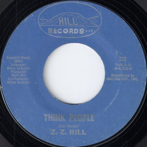 "Z.Z. Hill - Think People (7"")"