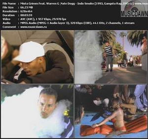 Mista Grimm Feat. Warren G & Nate Dogg - Indo Smoke (1993, Gangsta Rap, DVDrip)