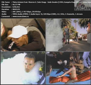 Mista Grimm Feat. Warren G & Nate Dogg – Indo Smoke [1993, DVDrip] Music Video