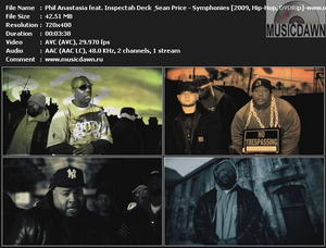 Phil Anastasia feat. Inspectah Deck & Sean Price – Symphonies [2009, DVDRip] Music Video {Re:Up}