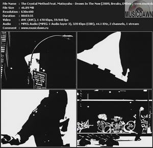 The Crystal Method Feat. Matisyahu - Drown In The Now (2009, Breaks, DVDrip)