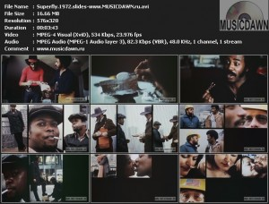 Curtis Mayfield - Pusherman (slides from Superfly movie 1972)