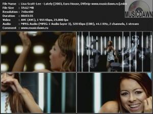 Lisa Scott-Lee - Lately (2003, Euro House, DVDrip)
